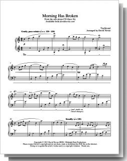 Morning Has Broken Sheet Music for Solo Piano
